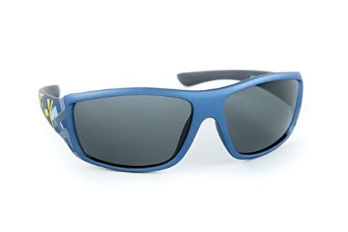 Children's Size Sports Wrap Performance Cycling Ski Sunglasses for Junior Kids Teens (Boys) (5-16) RV PC Impact Resistance lenses UV 100% Protection (FDA Approved) (Navy, - Ski Sunglasses Childrens