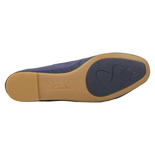 Clarks Clarks pour femme Smart Chia Milly en daim chaussures en bleu marine