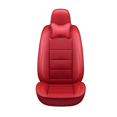TD Car Seat Cover All-Inclusive Seat Cover Four Seasons Universal Seat Cover Seat Cushion Car PU Seat Cover Comfortable (Color : RED)