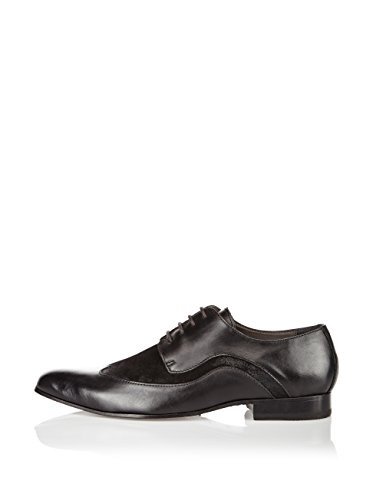 Bardage LG003 Business Schuhe Leder schwarz Schwarz