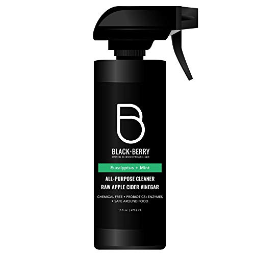 Black+Berry All Purpose, Raw Organic Apple Cider Vinegar Cleaner, Eucalyptus Mint, 16 fl. oz.