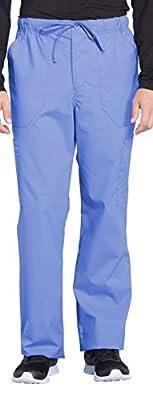 Cherokee Workwear Professionals Men's 1 Pocket V-Neck Top WW675 & Drawstring Cargo Pant WW190 Scrub Set