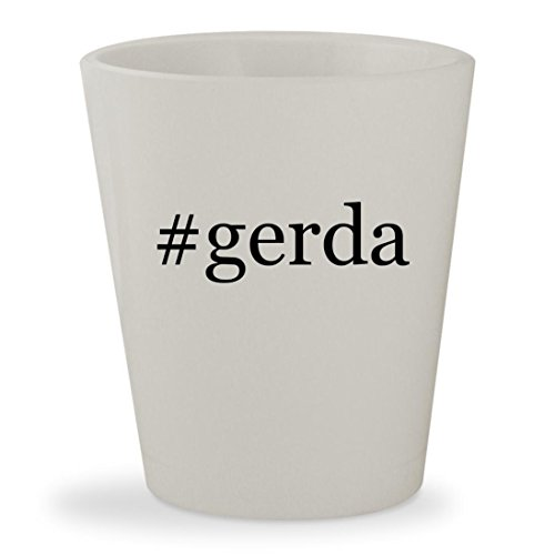 Weissman Costumes Facebook (#gerda - White Hashtag Ceramic 1.5oz Shot Glass)