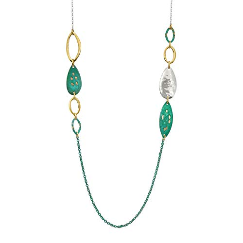 - Silpada 'Fresco' Sterling Silver and Patina Brass Necklace, 30