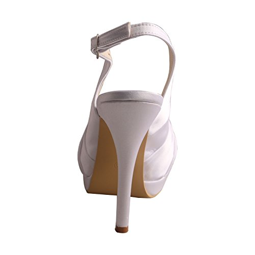 Open Toe Sandal Style Wedding Wedopus Bride Platform Double White MW700 Women's Singback XqwqCIfSx