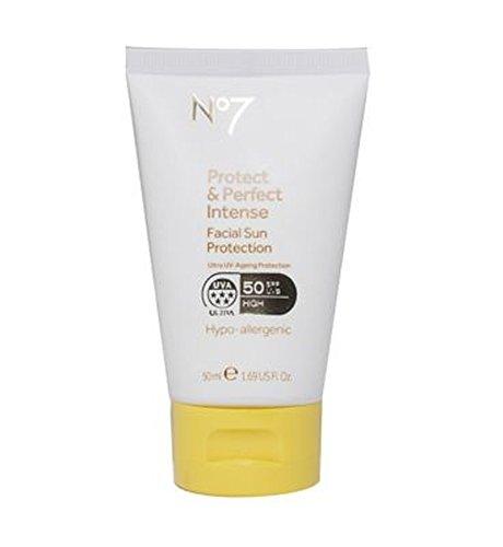 No7保護&完璧な強烈な顔の日焼け防止Spf 50 50ミリリットル (No7) (x2) - No7 Protect & Perfect Intense Facial Sun Protection SPF 50 50ml (Pack of 2) [並行輸入品]   B01MTJYJYM