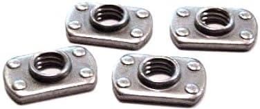 Carton 3//8-16 Multi-Projection Tab Weld Nuts//Steel//Plain//1,000 Pc