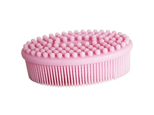 Hair Beauty Brush Children's Silicone Massage Bath Comb Hairdressing Comb Portable Comb(Pink) by Yuchoi