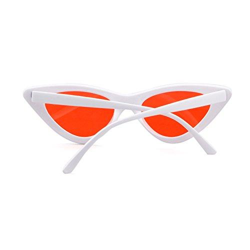 de vintage niñas mujeres ojo para Rojo protección de ADEWU de de Gafas Gafas Kurt Marco Cobain sol de gafas Blanco sol gato estilo Lente retro xFPZvPwO