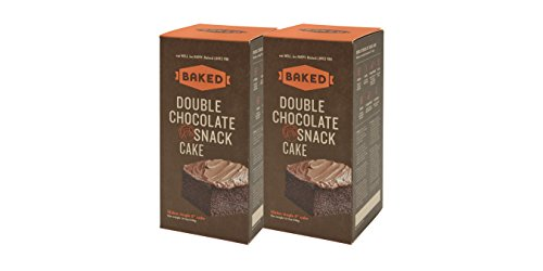 Baked Double Chocolate Snack Cake, Real Vanilla, 18.7 Ounce