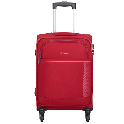 Aristocrat Polyester 58.3 cms Red Softsided Cabin Luggage (Baleno)