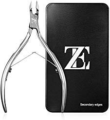 EZVOV Cuticle Trimmer - Professional Surgical Grade Super Sharp Blade Cuticle Nippers Stainless Steel Nail Clippers Pedicure Manicure Tool - Double Spring from EZVOV