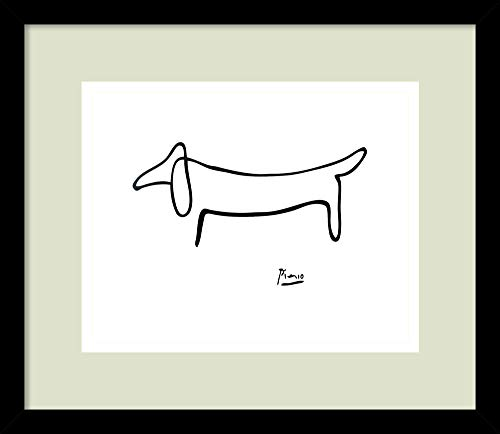 Framed Art Print, 'Le Chien (The Dog)' by Pablo Picasso: for sale  Delivered anywhere in USA