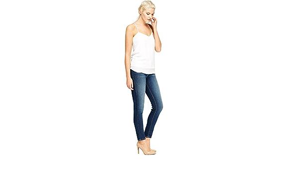 Ex Zara Ladies Skinny Mujer Ajustado Algodón Denim Azul Vaqueros Elásticos