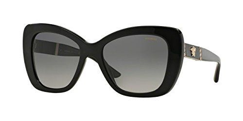575a150e9720 Versace Womens Sunglasses (VE4305) Black Grey Acetate - Polarized - 54mm -  Buy Online in Oman.