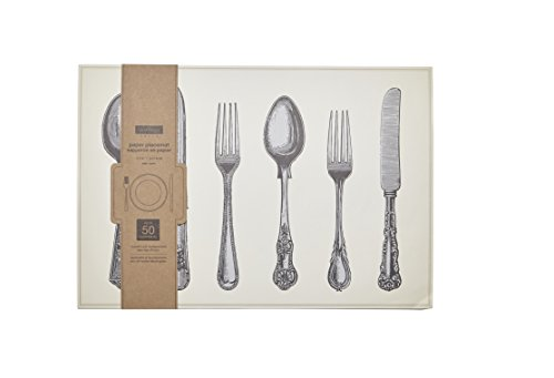 Harman Set of 50 Paper Placemats Vintage Cutlery 11