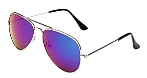 WODISON Classic Kids Aviator Sunglasses Reflective Metal Frame Children Eyeglass