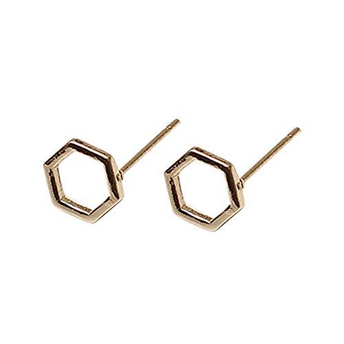 (LODDD 2019 Women Fashion Alloy Earrings Ear Ring Combination Of Casual Simple Earrings Silver Gold)