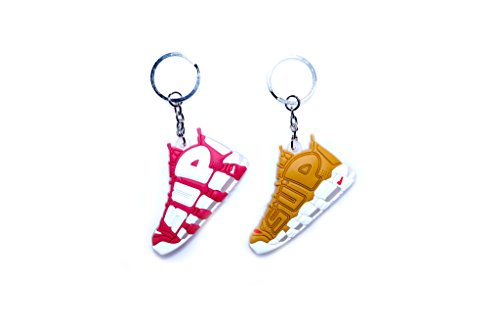 xxiii Air Uptempo PREME BOGO Box Logo Custom Collectible 2D Rubber Keychain (2 Pack) from xxiii