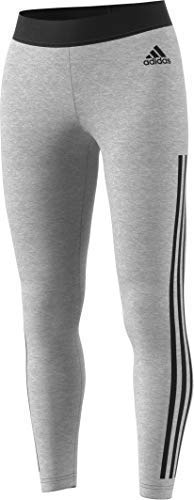 adidas Women's Must Haves 3-Stripes Tights, Medium Grey Heather/Black, X-Large