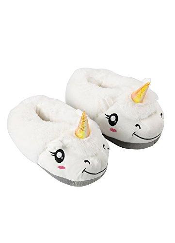 Peluche Blanc Darkcom 1 Dessin Pantoufles Licorne Paire Mignon Chaussures Chaudes Animé Unisexe Maison De En Adultes ZrpZq7O