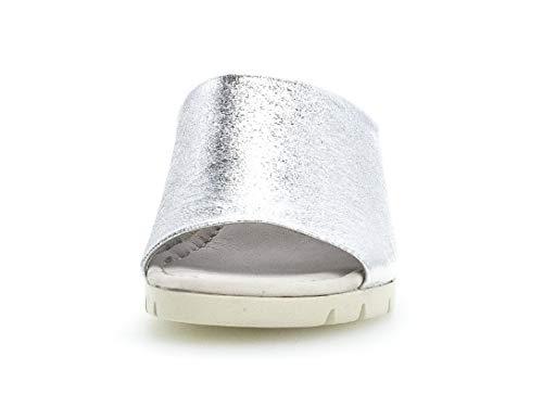 840 Gabor sandalias zapatos plana cómodo kork Cuña Silber comfort Mujer Verano sandalias 22 Del mehrweite Cuña sandalias De rr5Hfwq