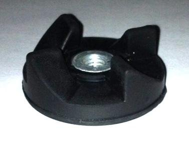 Black Rubber Gear Spare Replacement Part for Magic Bullet for Cross and Flat Blade (Vise Bullet)