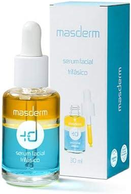 MASDERM - Serum Facial Vitamina C - Antimanchas, Antioxidante, Regenerador, Antiedad - Aceite de Argán, Rosa Mosqueta, Aloe Vera, Vitamina E - Caja Regalo
