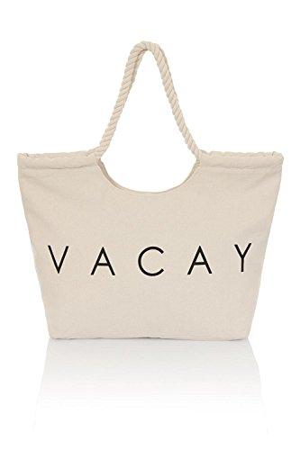SOUTHBEACH  South Beach Bags, Borsa da spiaggia  Donna Cream Vacay