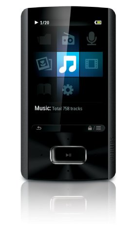 Philips SA4ARA08KF/37 GoGEAR Ariaz MP3 Players - Black (Discontinued by Manufacturer)