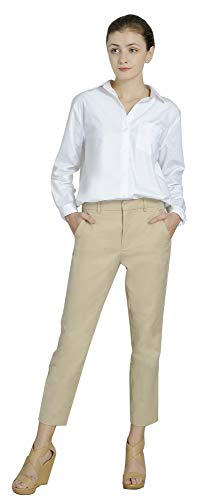 Marycrafts Women's Work Ankle Dress Pants Trousers Slacks ,X-Small,Beige 1 - Khaki Ankle Pants