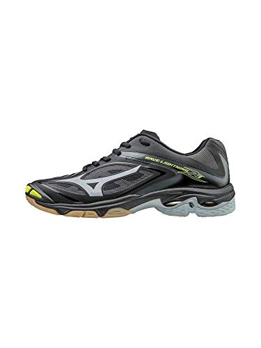 Mizuno Women's Wave Lighting Z3 Volleyball Shoe,Black/Silver,8 B US (Old 09 Body)