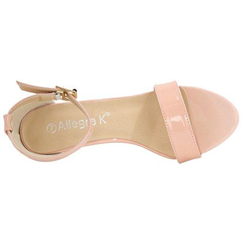 Allegra K Womens Ankle Strap Stiletto Heels Pink 0GMgziezjQ