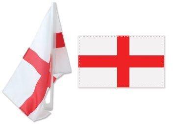 Celebrate Inglaterra St George s D/ía En Estilo Twin Pack 12 X 18 para ventanillas de coche Banderas con cruz de St George