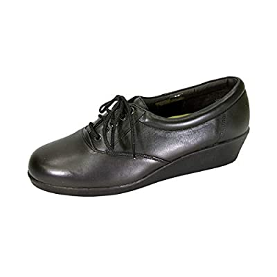 24 Hour Comfort Helga Women's Wide Width Cushioned Leather Shoes