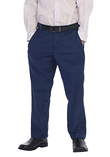 Gioberti Boys Flat Front Dress Pants, Royal Blue,