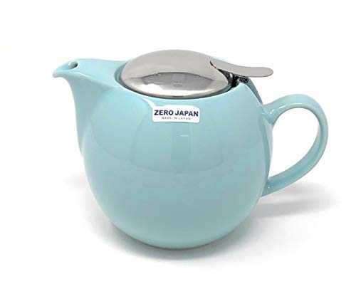 Bee House 26oz Round Ceramic Teapot (Aqua Mist) (Coffee Stoneware Cups Japan)