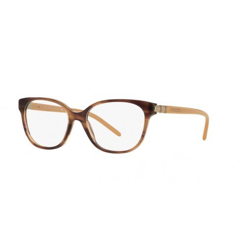 Bvlgari Women's BV4105 Eyeglasses Striped Brown 52mm by Bulgari