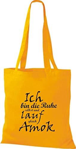 Bolso Mujer Para Shirtstown Goldgelb Amarillo De Tela Algodón Rqn7xw17S