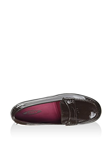 MBT Marrone Luxe Shani Bean Coffee Penny Mocassini Donna Loafer Patent rYr5x