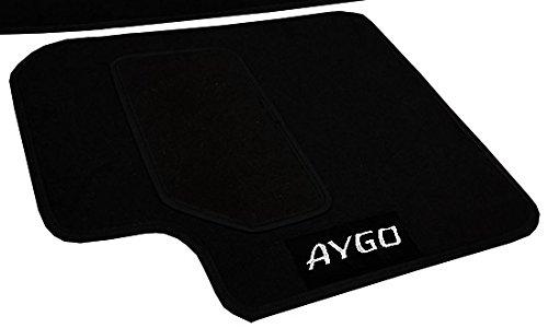 Lupex Shop tpstr Aygo Alfombrillas Coche con Velcro