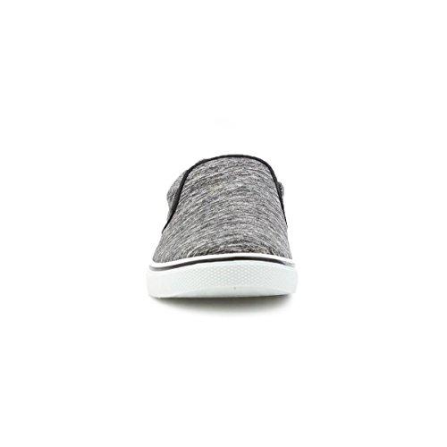 On Shoe Canvas Grey Mens Slip Fish Grey Marl Red xqf1wC