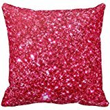 Hot Pink Fuchsia Tiny Sequin Glitter Pillow Case