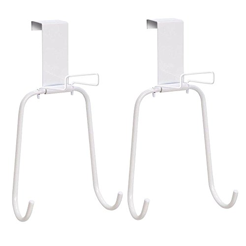 Set of 2 Over the Door Iron and Board Holders - White - Up To 1.75'' Doors by Honey-Can-Do