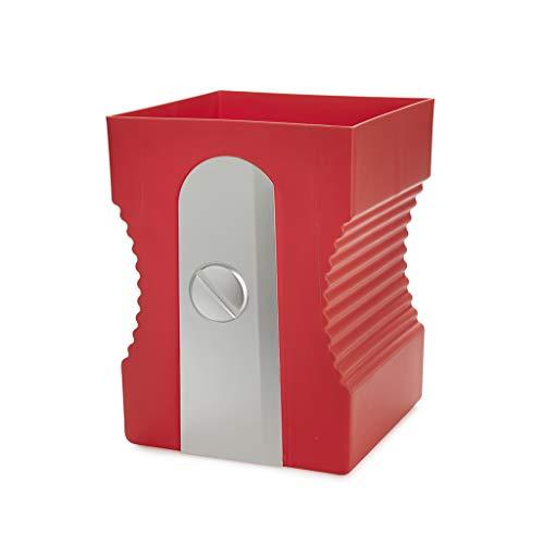 Balvi Papelera Sharpener Color Rojo Papelera con Forma de sacapuntas Plastico ABS/PP 29cm