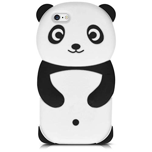 Artbling Case for iPhone 6 /6S / 6G Silicone 3D Cartoon Animal Cover,Kids Girls Boys Cool Cute Black White Cases,Kawaii Soft Gel Rubber Unique Fun Character Fashion Funny Protector for iPhone6 (Panda)