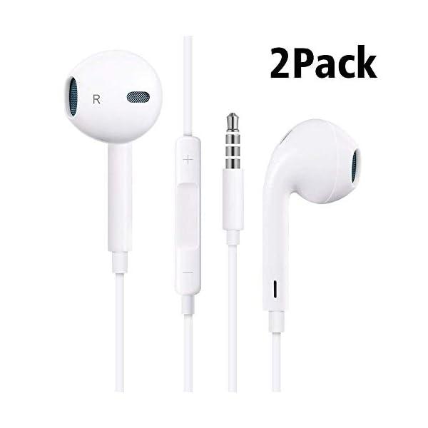 MOPIDICK Earbuds/Earphones/Headphones, (2Pack) Premium in-Ear Wired Earphones...
