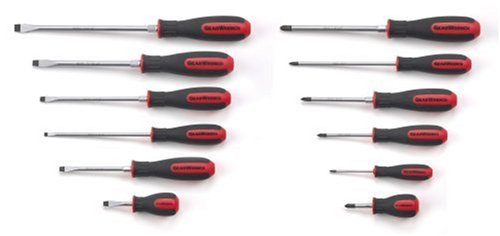 GearWrench 80051 12 Piece Combination Dual Material Screwdriver Set ()