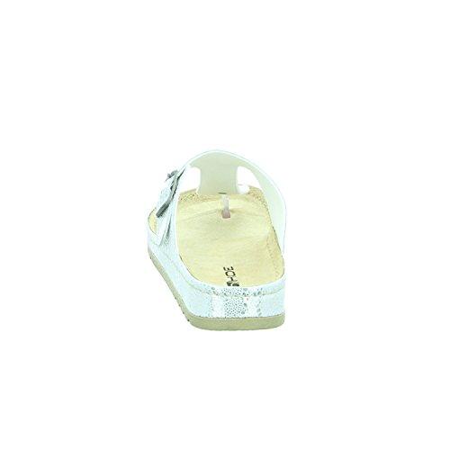 Rohde Riesa 5807-89 Zuecos de material sintético mujer metálico