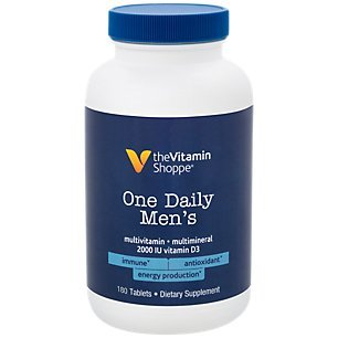 One Daily Mens Multivitamin 180 Tablets by The Vitamin Shoppe